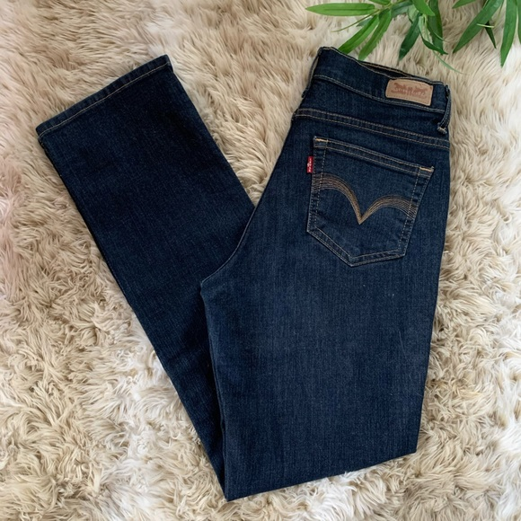 LEVI's, 512 Dark Wash Straight Leg Jeans